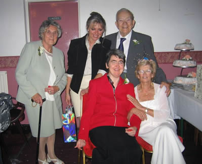 At George and Edna's wedding in Anstey 2004