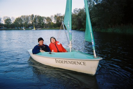 Sailing in a boat called Independence